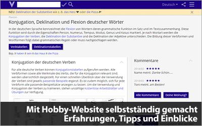 Mit Hobby-Website selbstständig gemacht - Erfahrungen, Tipps und Einblicke