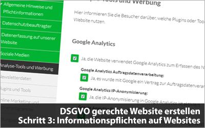 Informationspflichten Auf Websites Ds Gvo Gerechte Website