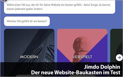 Jimdo Dolphin - Der neue Website-Baukasten im Test