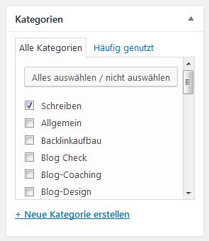 Wie lege ich Kategorien in WordPress an und worauf muss ich achten?