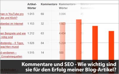 Kommentare und SEO - Wie wichtig sind sie für den Erfolg meiner Blog-Artikel?