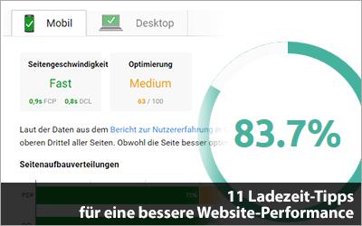 11 Ladezeit-Tipps für eine bessere Website-Performance