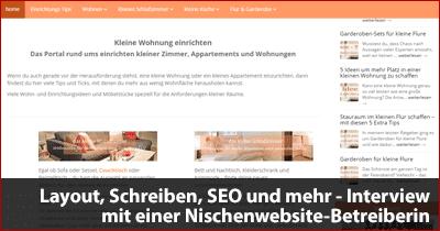 Layout, Schreiben, SEO und mehr - Interview mit einer Nischenwebsite-Betreiberin
