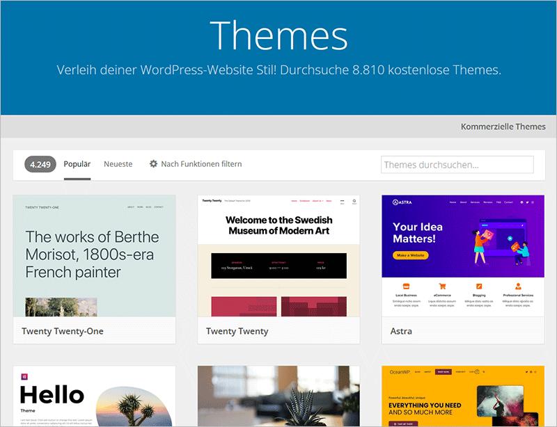 Das optimale Layout für deinen neuen WordPress-Blog - Theme-Tipps und Empfehlungen