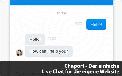 Chaport - Der einfache Live Chat für die eigene Website