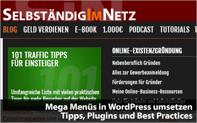 Mega Menüs in WordPress umsetzen - Tipps, Plugins und Best Practices