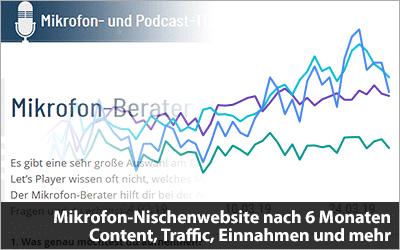 Meine Mikrofon-Nischenwebsite nach 6 Monaten - Content, Traffic, Einnahmen und mehr