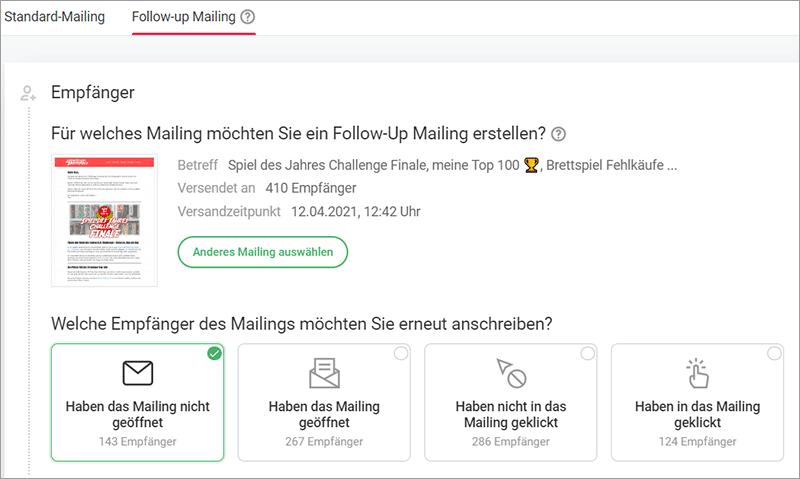 Follow-Up Mailing