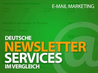 Deutsche Newsletter-Services im Vergleich