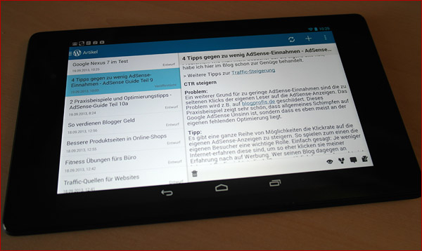 Google Nexus 7 im Test