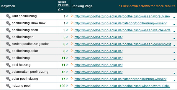 Nischenseiten Challenge Woche 6 - Google Rankings