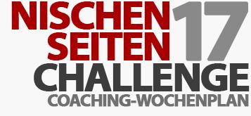 Coaching-Wochenplan - Nischenseiten-Challenge 2017