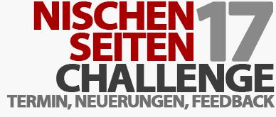 Nischenseiten-Challenge 2017 - Termin, Neuerungen und euer Feedback