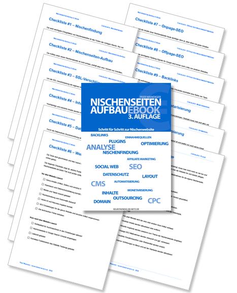 Nischenseiten-Aufbau E-Book inklusive 12 Checklisten