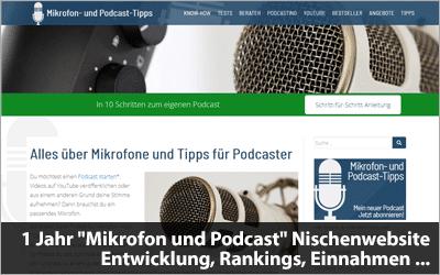 1 Jahr Mikrofon und Podcast Nischenwebsite - Entwicklung, Rankings, Einnahmen ...