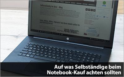 Auf was Selbständige beim Notebook-Kauf achten sollten