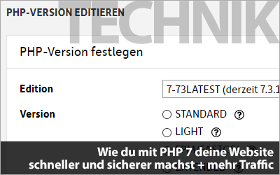Wie du mit PHP 7 deine Website schneller und sicherer machst + mehr Traffic