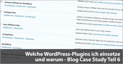 Welche WordPress-Plugins ich einsetze und warum - Blog Case Study Teil 6