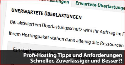 Profi-Hosting Tipps und Anforderungen - Schneller, Zuverlässiger und Besser?!