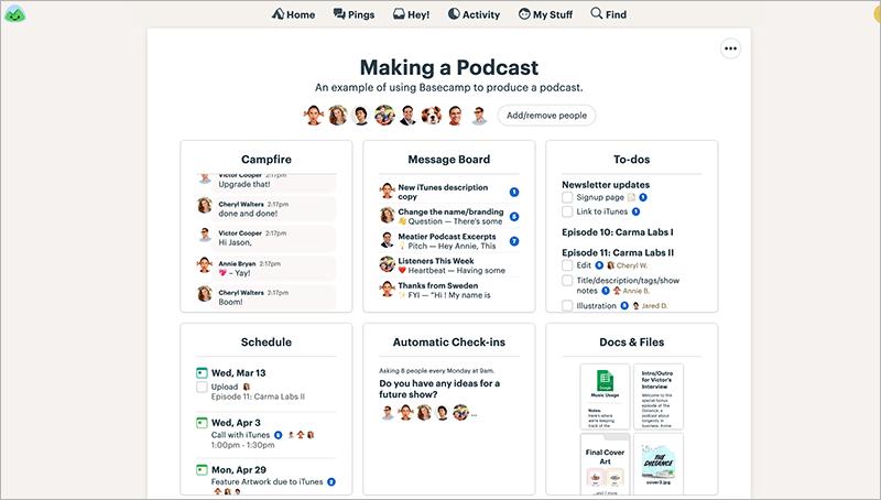 Projektmanagement-Software – die 7 besten Tools - Basecamp