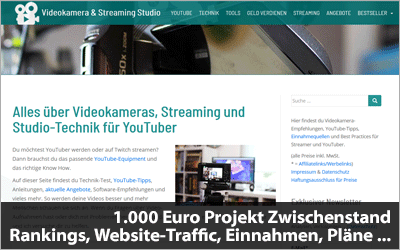 1.000 Euro Projekt Zwischenstand - Rankings, Website-Traffic, Einnahmen, Pläne ...