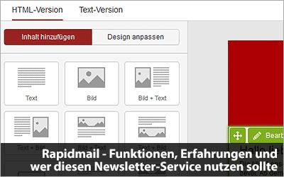 Rapidmail - Funktionen, Erfahrungen und wer diesen Newsletter-Service nutzen sollte