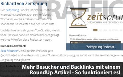 Wie du mit einem RoundUp Artikel für mehr Besucher und Backlinks sorgst!