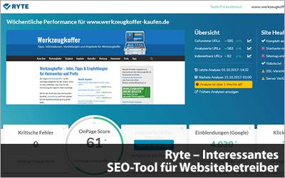 Ryte - Interessantes SEO-Tool für Websitebetreiber