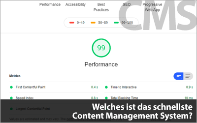 Welches ist das schnellste Content Management System?