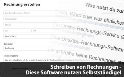 Schreiben von Rechnungen - Diese Software nutzen Selbstständige!