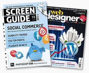 ScreenGuide und der webdesigner - Fachzeitschriften-Reviews