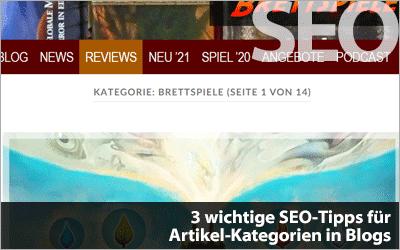 SEO-Tipps für Blog-Kategorien