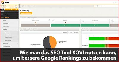 Wie man das SEO Tool XOVI nutzen kann, um bessere Google Rankings zu bekommen