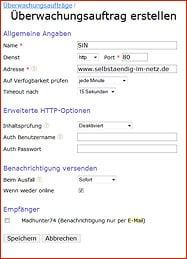 Webserver-Überwachung mit Serverstate