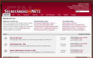 Aktuelle Themen im Selbständig im Netz - Forum
