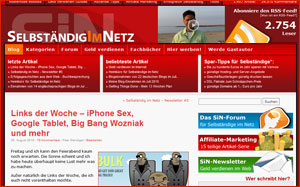SiN Layout vor Redesign 2010
