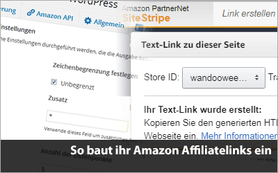 So baut ihr Amazon Affiliatelinks ein
