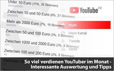 So viel verdienen YouTuber im Monat