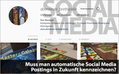 Muss man automatische Social Media Postings von Bots in Zukunft kennzeichnen?
