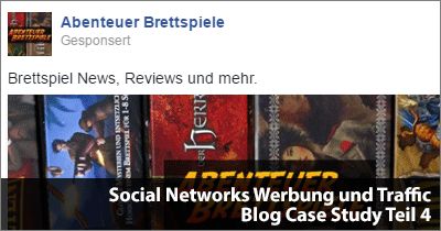 Social Networks Werbung und Traffic-Entwicklung - Blog Case Study Teil 4