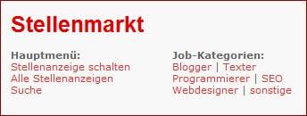 Stellenmarkt für Selbständige im Netz