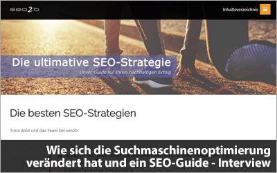 Wie sich die Suchmaschinenoptimierung verändert hat und ein SEO-Guide - Interview