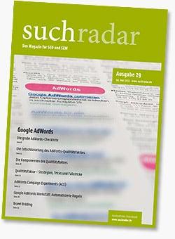 Suchradar #29 - AdWords-Schwerpunkt SEO SEM