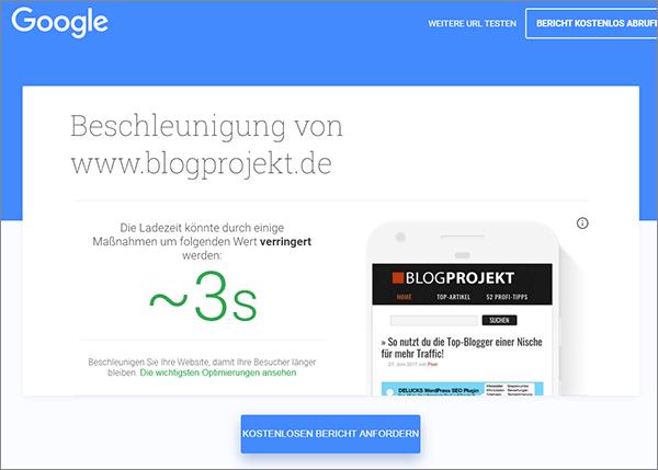 Test my Site von Google - Tool-Empfehlung für eine bessere Ladezeit