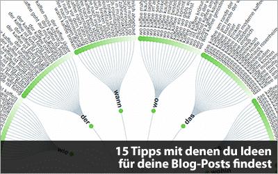 15 Tipps mit denen du Ideen für deine Blog-Posts findest