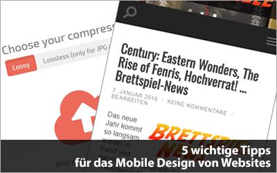 5 Tipps für das Mobile Design von Websites