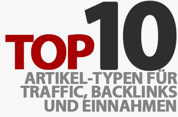 Meine Top 10 Artikel-Typen