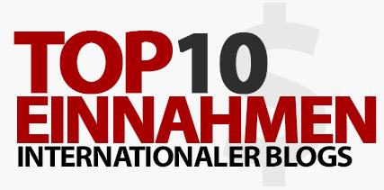 Top 10 Einnahmen internationaler Blogs - Dezember 2016
