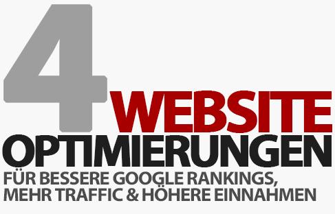 Bessere Google Rankings, mehr Traffic und höhere Einnahmen - Top 4 Website Optimierungen