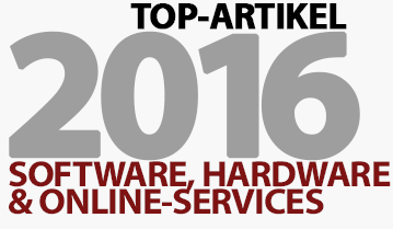 Software, Hardware & Online-Services - Top 10 Artikel im Jahr 2016